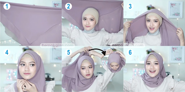 Style Keempat Tutorial Hijab Pasmina Simple