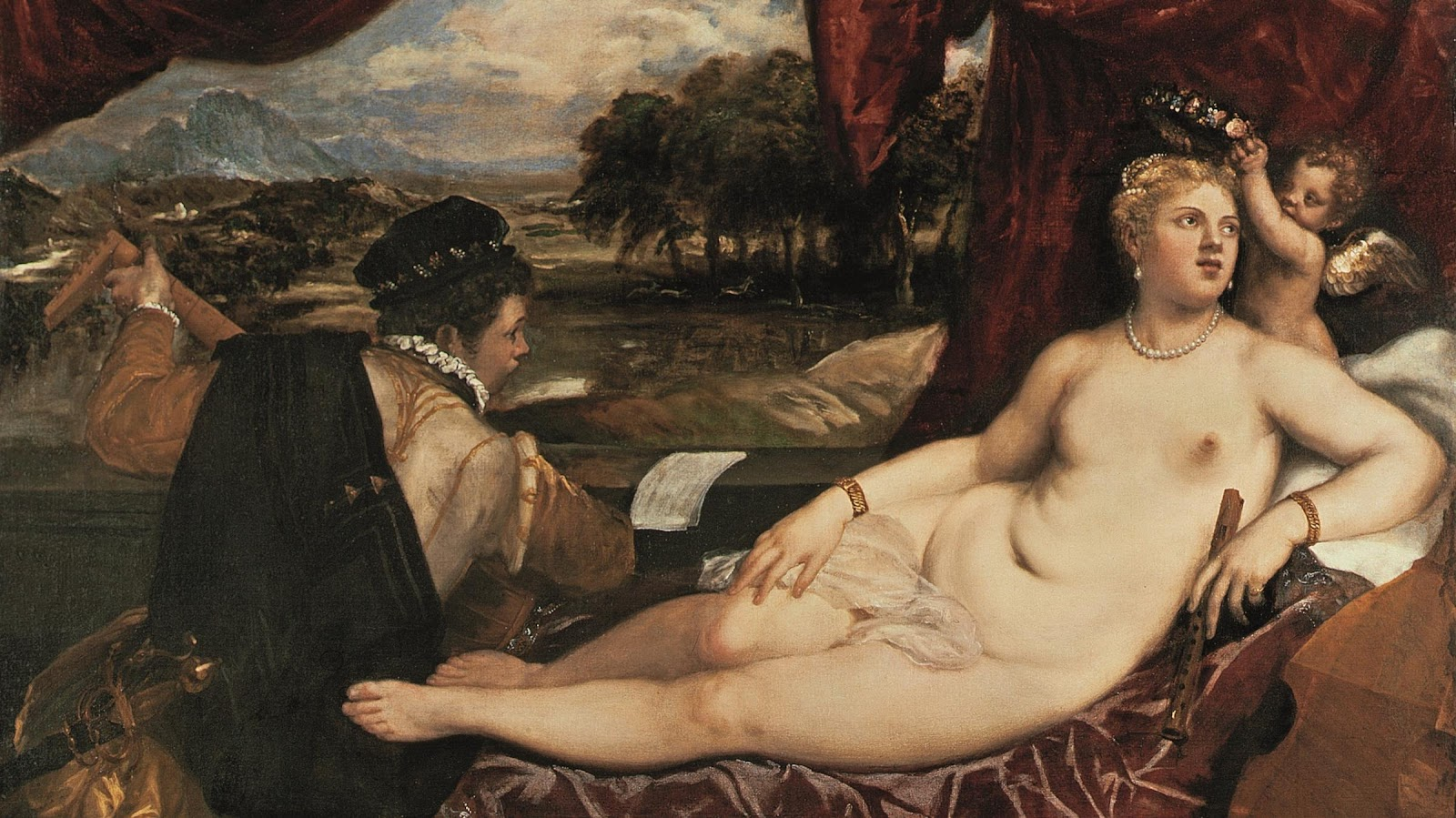 Titian - Venus and the Lute Player 1565-1570 (detail)  sc 1 st  Tuttu0027Art & Titian | Venus with the Musician series | Art in Detail | Tuttu0027Art ... islam-shia.org