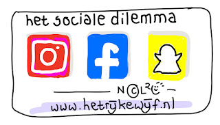 social media instagram facebook en snapchat icoontjes getekend