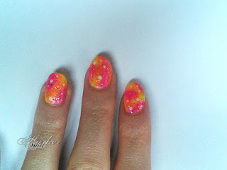 Summer galaxy nail art