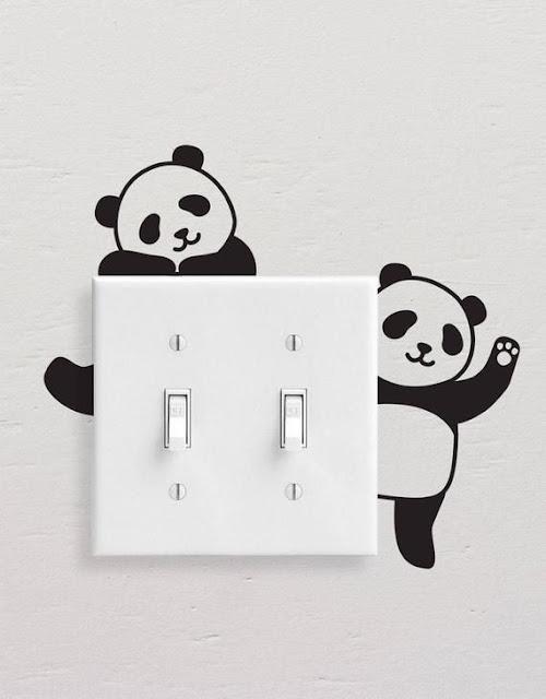 Panda Painting On Switchboard