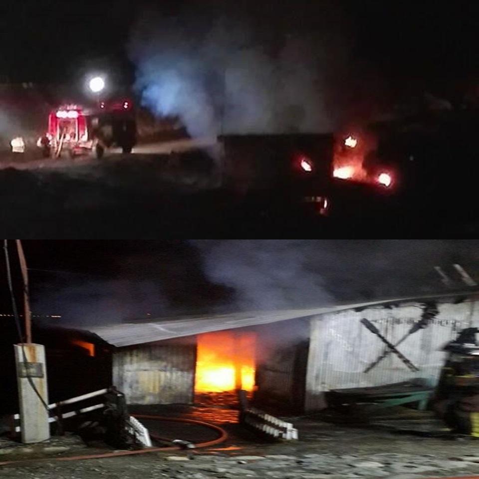 Incendio en la madrugada en Ushuaia