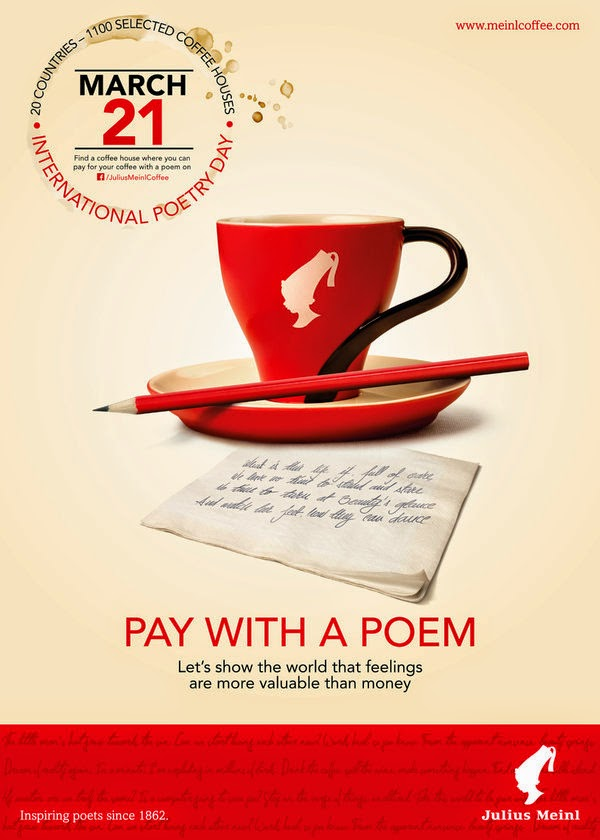 Julius Meinl coffee: Pay with a poem