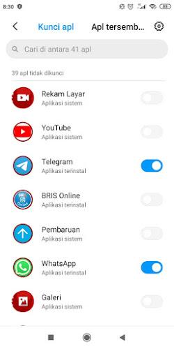 Cara mengunci aplikasi dismartphone xiaomi2