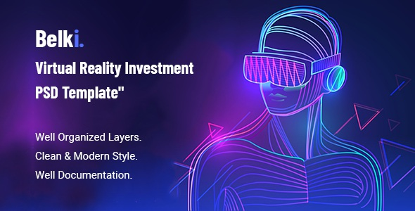 Virtual Reality Investment PSD Template