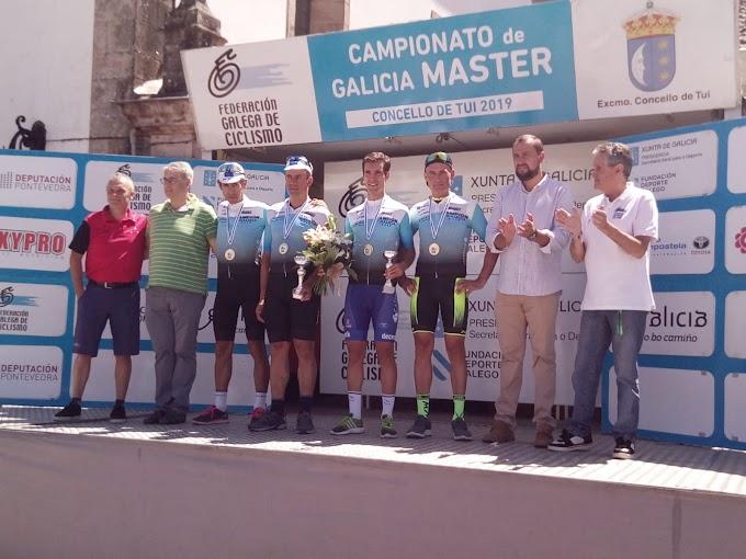 Jaime Rivas, Rubén Fernández, Alfonso Fernández y Manuel Prieto fueron los Campeones gallegos Máster en el 'Muro de Tui'