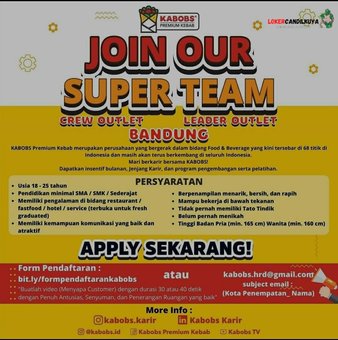 Lowongan Kerja Kabobs Bandung