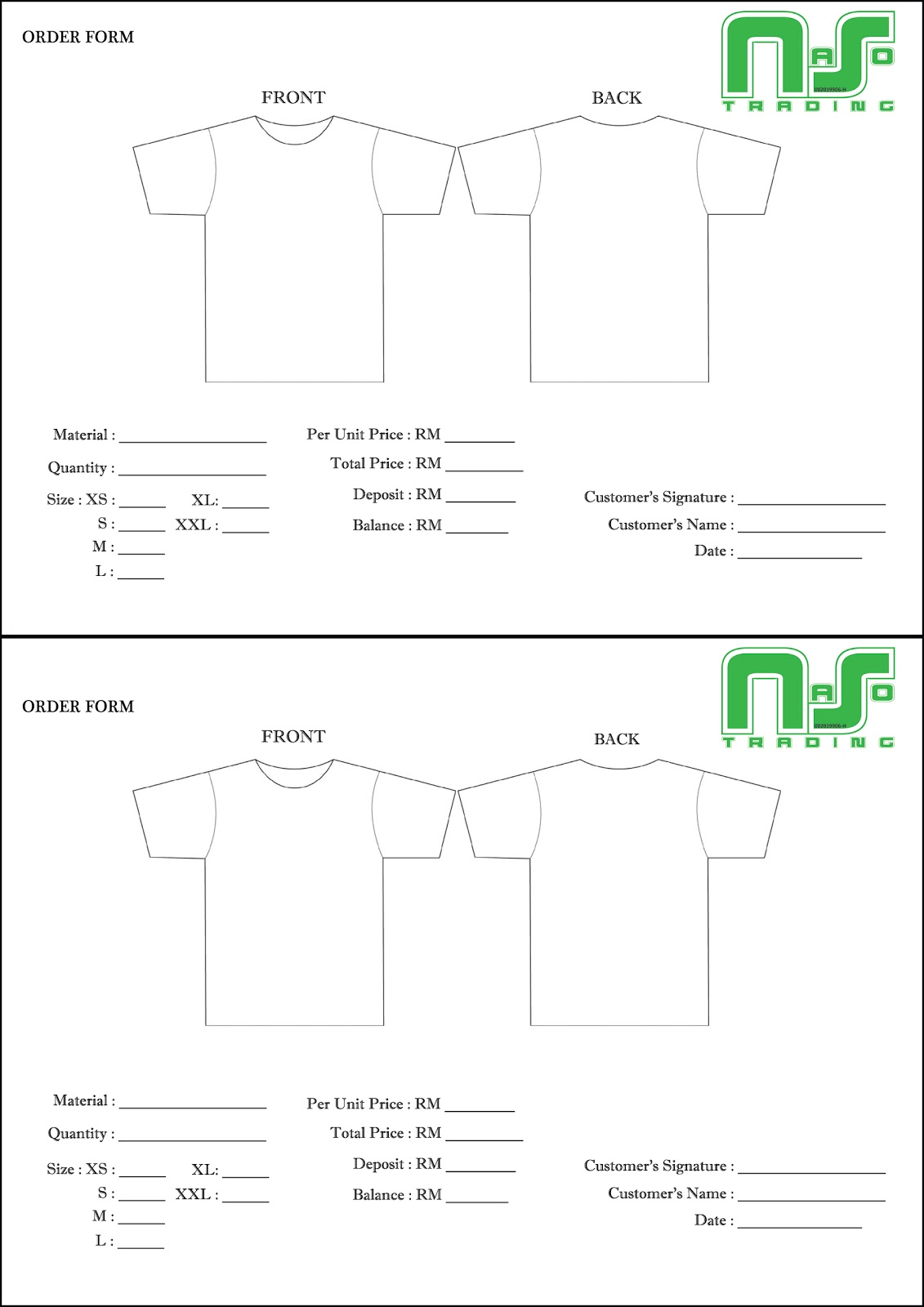 Printing Solutions: Tshirt Order Form