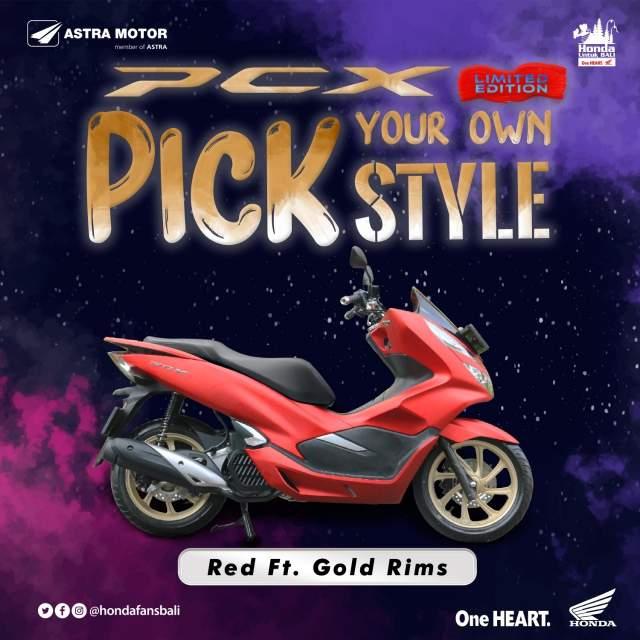 Warna Baru Velg PCX Red dengan Gold Rims