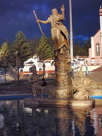 Monumento dedicado a Bochica en Cuítiva, Colombia.