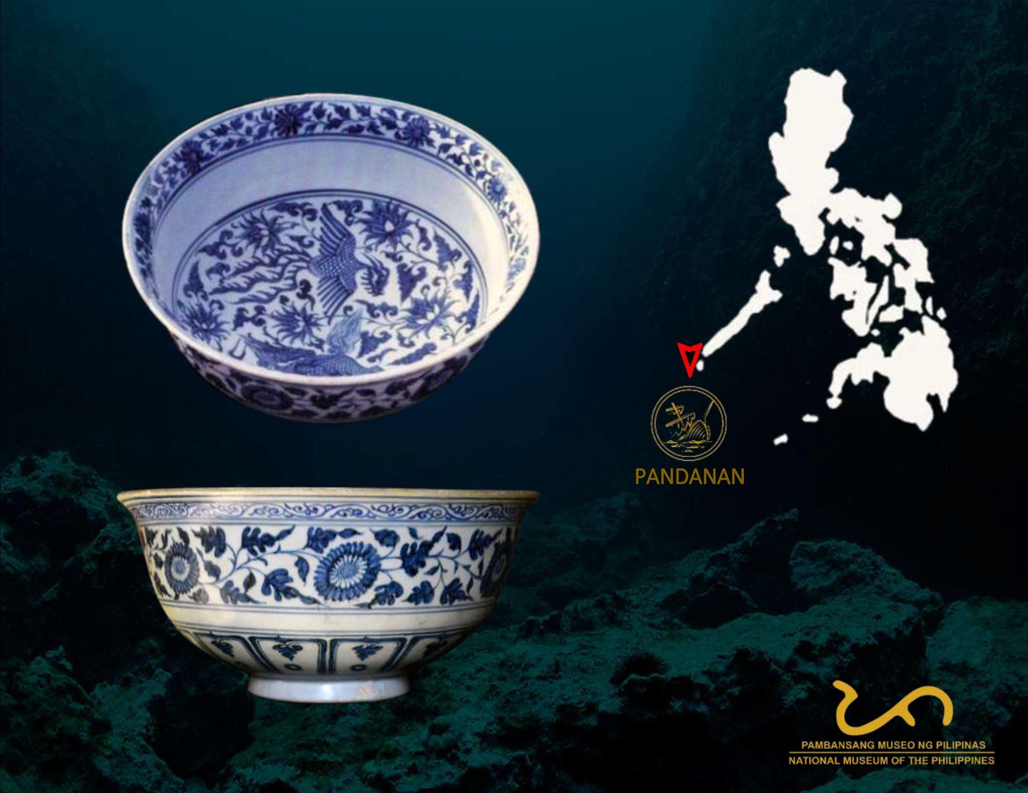 Porcelain Blue and White Bowl  Pandanan Shipwreck
