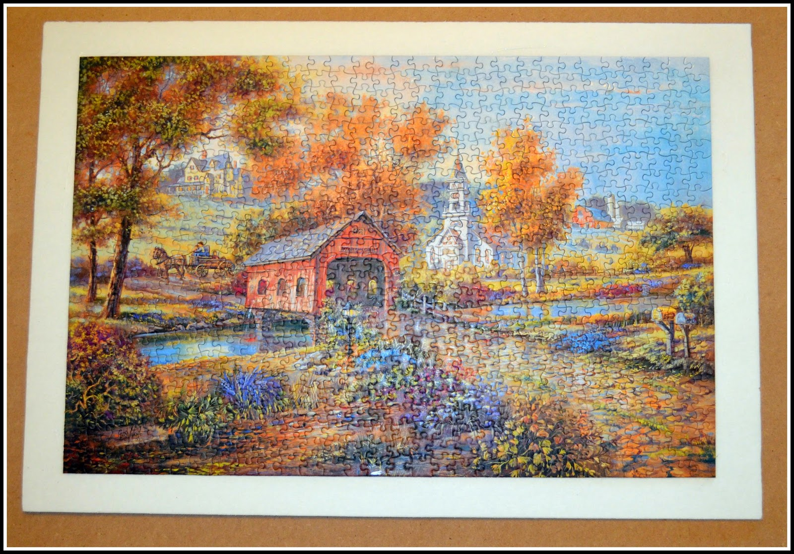 Jigsaw Puzzle As Wall Art Techie S Diy Adventures