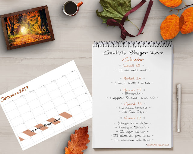 #CreativityBloggerWeek: 5 libri da leggere questo autunno