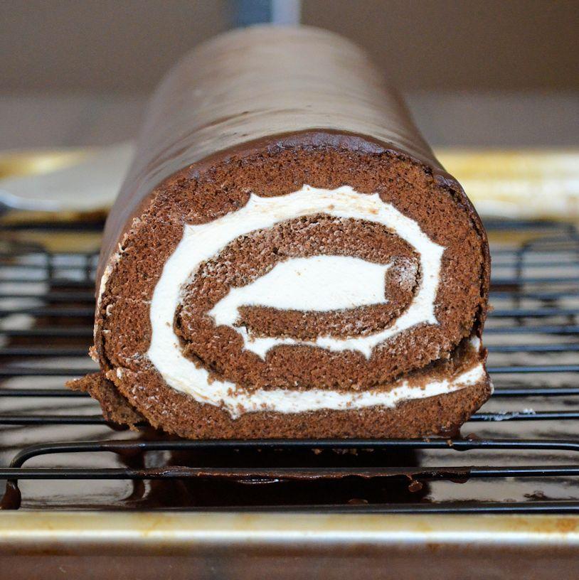 Chocolate Roll Cake Easy