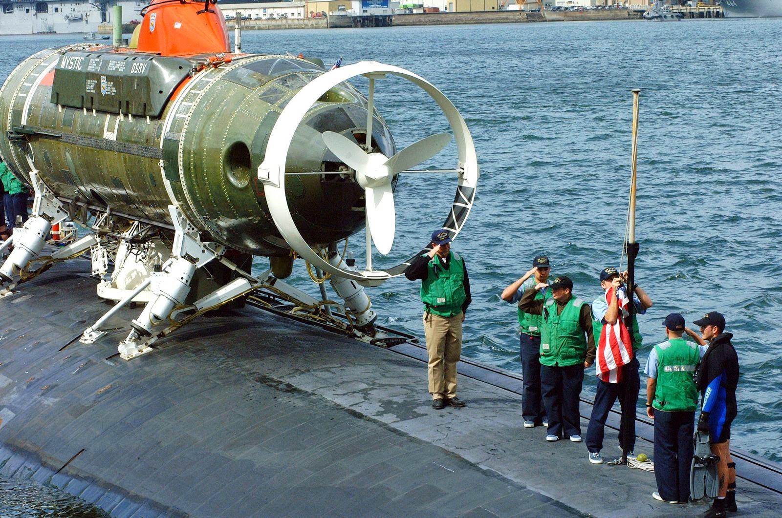 "El DSRV, llamado ""The Mystic"", dela US Navy."