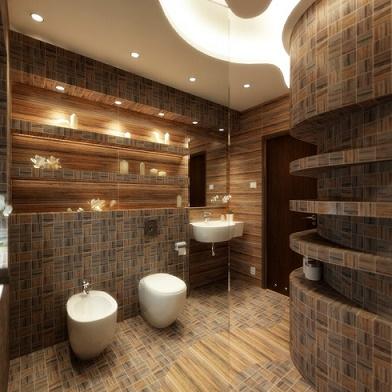 Ideas para Decorar Paredes de Baños Modernos - Colores en Casa