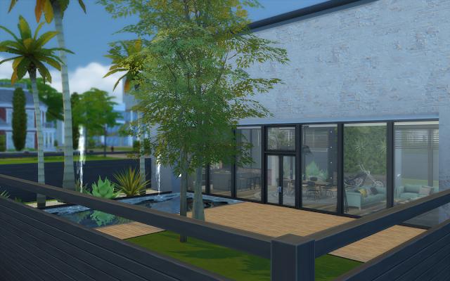 jardin cloture noir sims 4