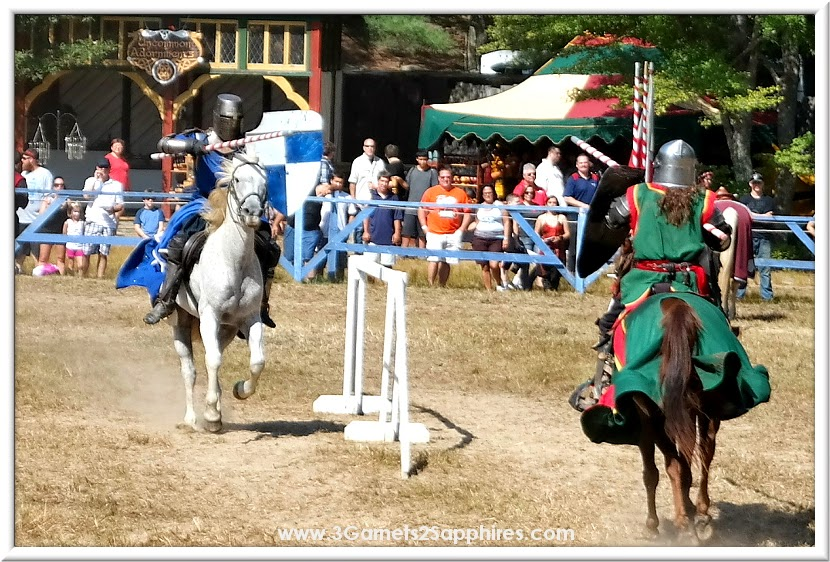 Jousting at King Richard's Faire 2014  |  www.3Garnets2Sapphires.com