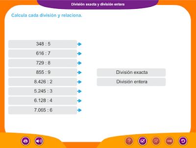 http://www.ceiploreto.es/sugerencias/juegos_educativos_3/6/3_Division_exacta_entera/index.html