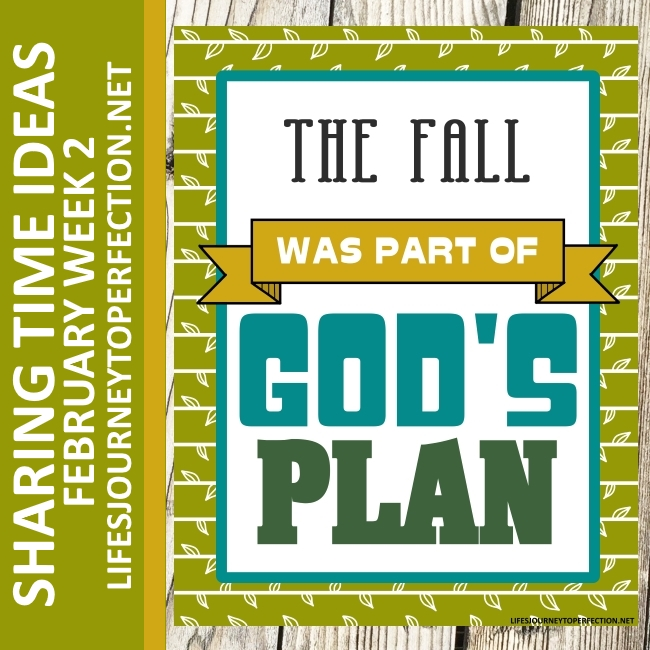 Lifes journey to perfection 2018 primary sharing time ideas for 2018 primary sharing time ideas for february week 2 the fall was part of gods plan sciox Choice Image
