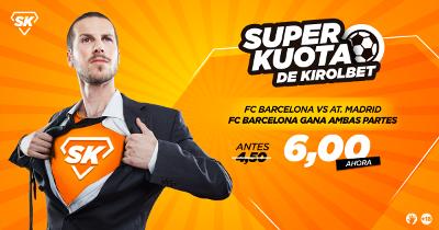 Kirolbet superkuota Barcelona vs Atletico 4 marzo