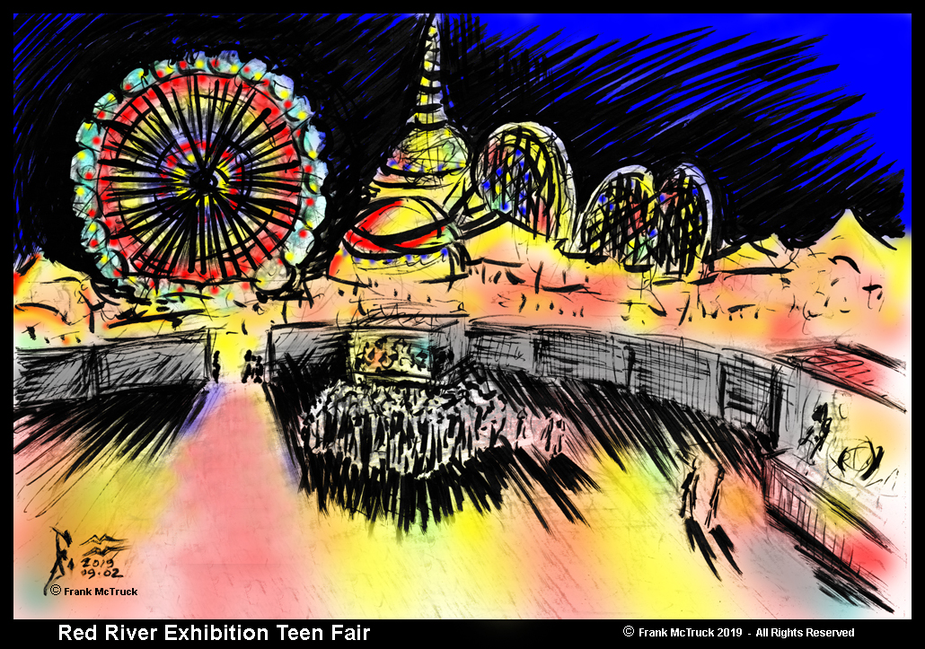 "Frank McTruck Artwork ""Red River Exhibition Teen Fair"""