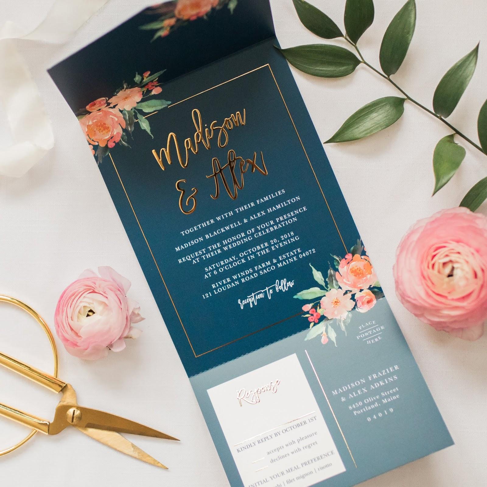 Personalized gay wedding invitations