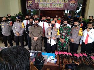 Wilayah Hukum Polda Jambi Berhasil Mengamankan 4 Orang Pelaku Kerusuhan di Kerinci