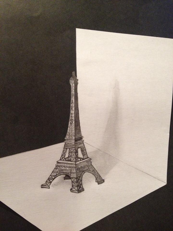 Desenhos 3d Torre Eiffel 3d