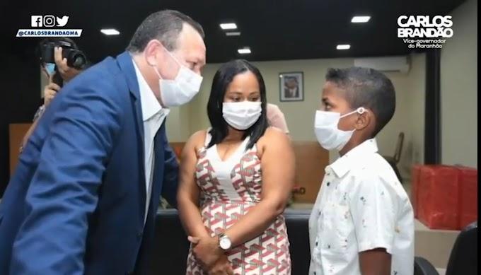 AÇÃO SOCIAL - Vice-governador Carlos Brandão descobre talentos e realiza sonhos à crianças maranhenses