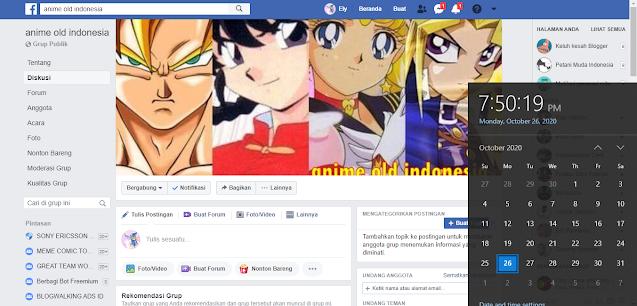 tampilan facebook klasik dengan menggunakan fitur admin grup