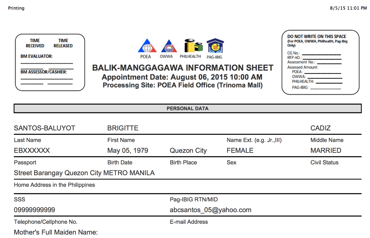 Iambrigitte How To Get Your Oec Via Appointment Philippines