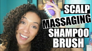 Scalp Massaging Shampoo Brush Review For Curly Hair