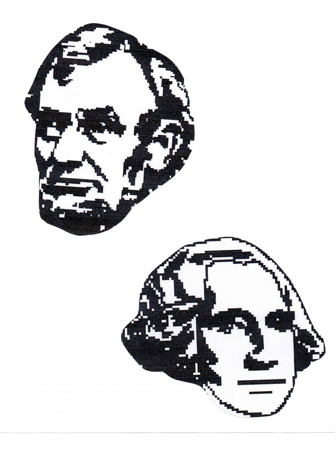 Tippytoe Crafts Mount Rushmore Heads