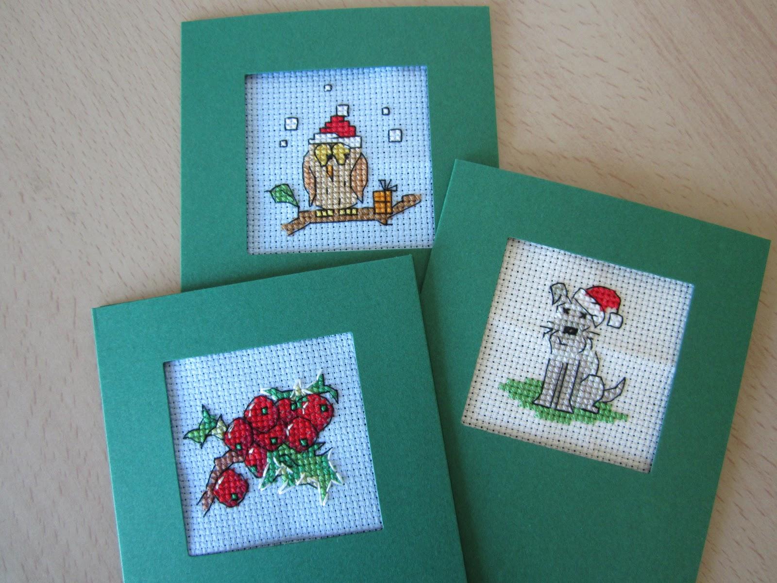 christmas cross stitch crafty