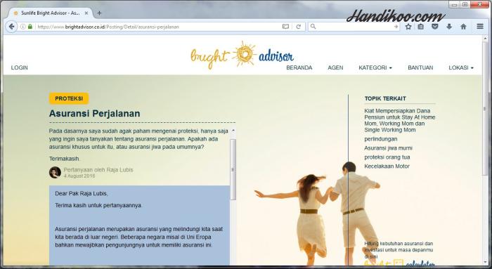 Sun Life Financial - Liburan Impian Terbaik dengan Asuransi Perjalanan dan Bright Advisor