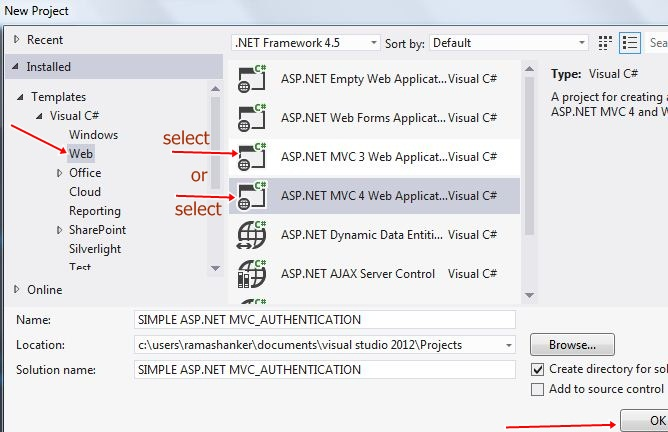Simple Form Based Authentication in ASP NET MVC Application
