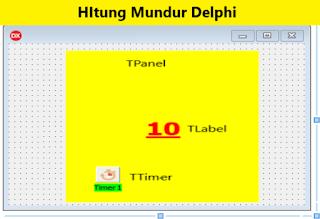 Cara membuat hitung mundur Delphi