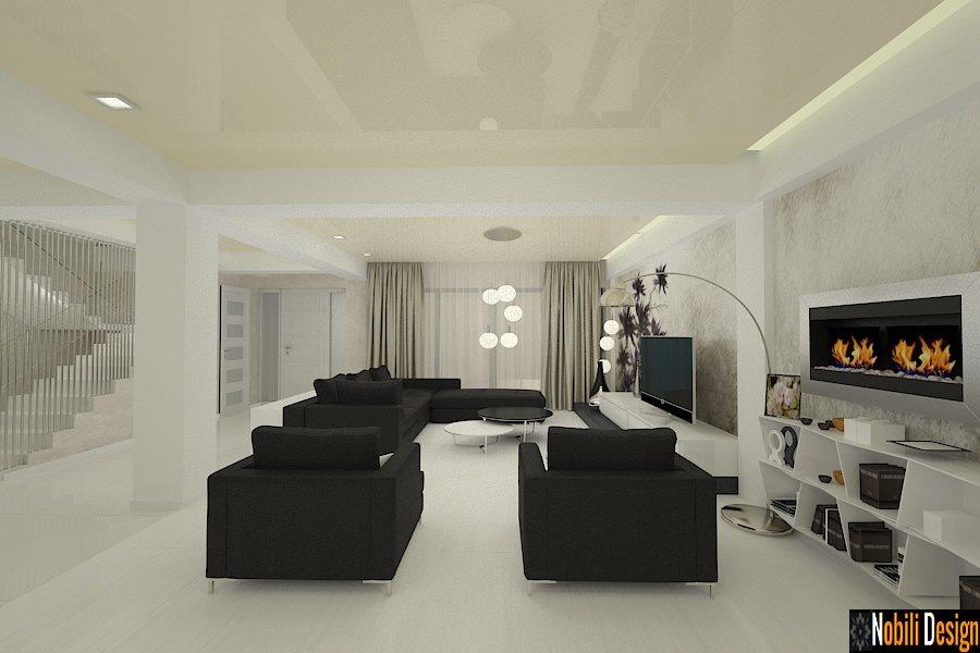 interior living modern open space - Amenajari interioare case in ...