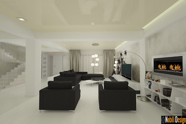 Design interior living modern open space - Amenajari interioare case in Constanta
