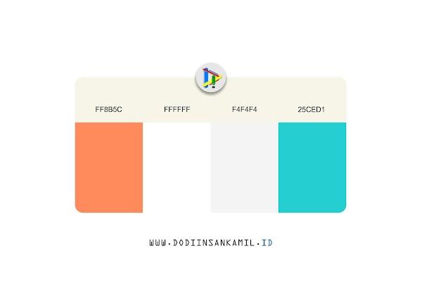 Gradasi Warna Orange, Biru & Putih - Gradasi Warna untuk Desain