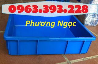 Khay nhựa đặc B9, thùng nhựa đặc B9, thùng nhựa chứa đồ linh kiện,sóng nhựa bít B9TN