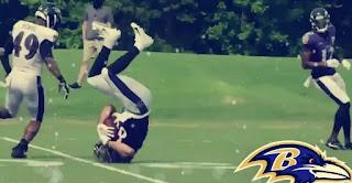 Baltimore Ravens training camp 2020