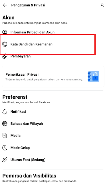 cara mematikan autentikasi dua faktor facebook