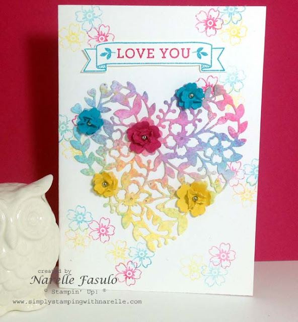 Narelle Fasulo - Independent Stampin' Up! Demonstrator - Simply Stamping with Narelle - Bloomin' Heart available in my store now - http://www3.stampinup.com/ECWeb/default.aspx?dbwsdemoid=4008228