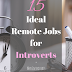15 Ideal Remote Jobs for Introverts - Work at Home Trust