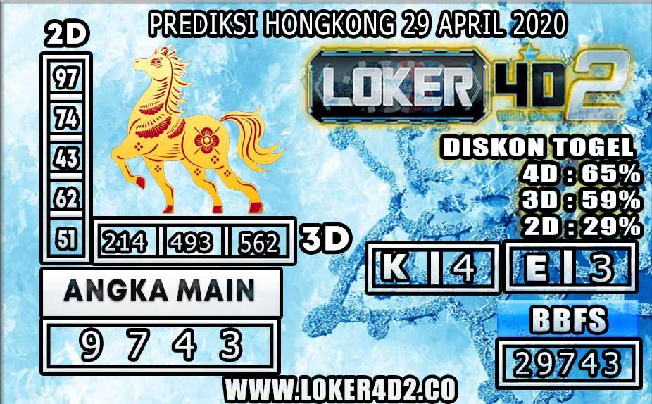 PREDIKSI TOGEL HONGKONG LOKER4D2 29 APRIL 2020