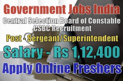 CSBC Recruitment 2019