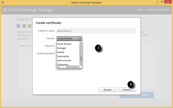 Steps to create certificate for Adobe Exchange 2