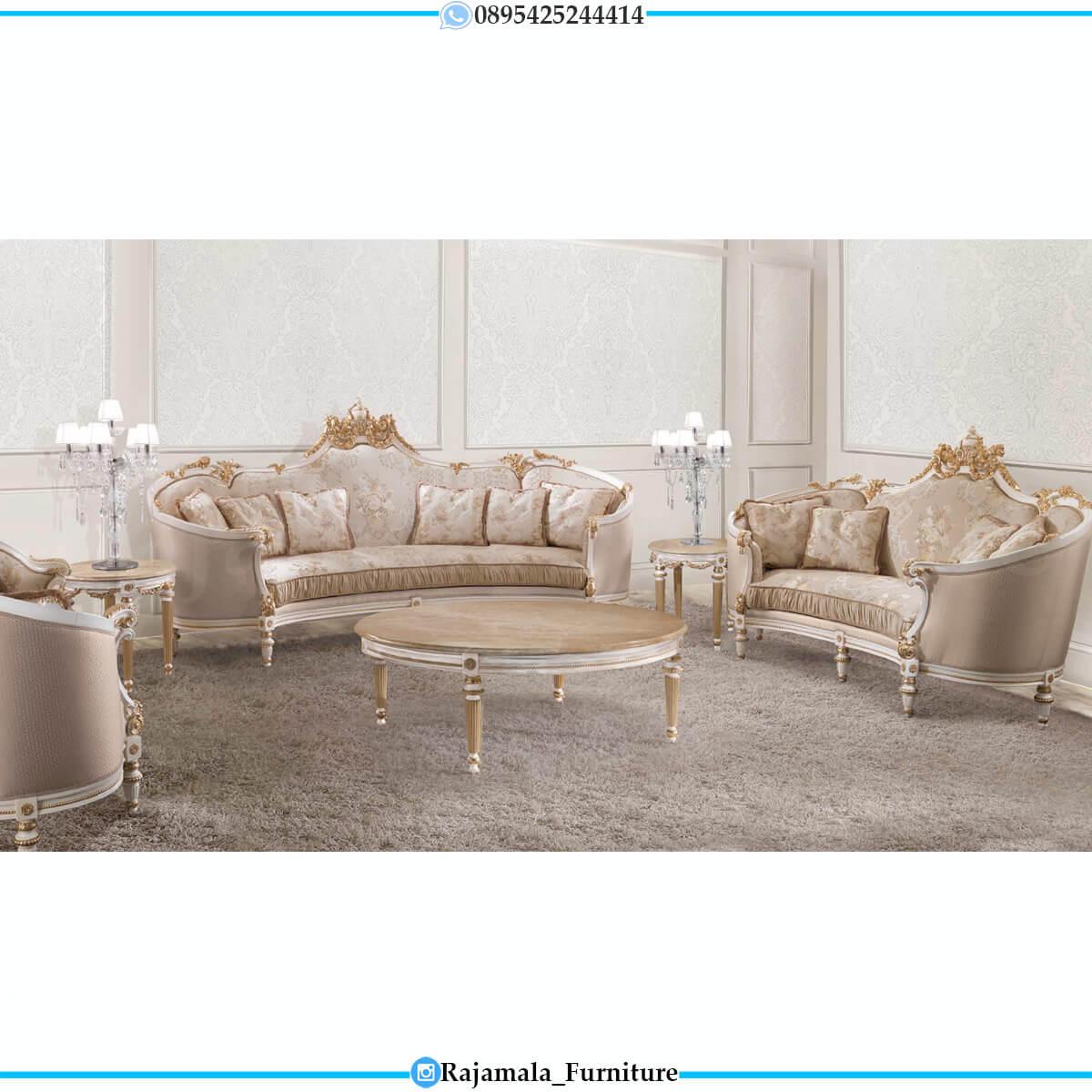 Sofa Tamu Mewah Klasik Luxury Crown Carving Duco Color RM-0747